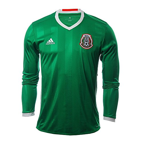 48deafc9244 adidas MEXICO NATIONAL SOCCER TEAM 2016 COPA AMERICA MEN'S HOME LONG SLEEVE  JERSEY (Large)