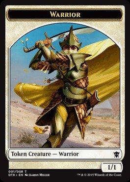 Magic: the Gathering - Warrior Token (001/008) - Dragons of Tarkir from Magic: the Gathering