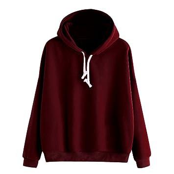 VonVonCo Damen Hoodies Langarm Einfarbig Sweatshirt Jacke