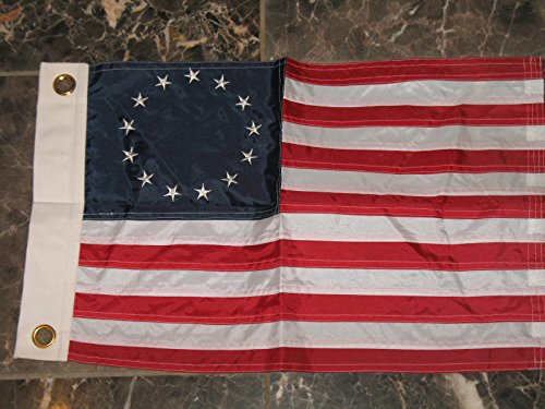 12x18 Embroidered Betsy Ross Solarmax Nylon 2ply Boat Flag 12