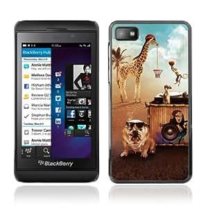 CQ Tech Phone Accessory: Carcasa Trasera Rigida Aluminio Para Blackberry Z10 - Animals Having A Party