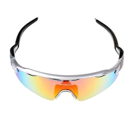 Herren Polarisierte Sport Sonnenbrille mit 5 Stück Farbe Linsen, Etui & Zubehör