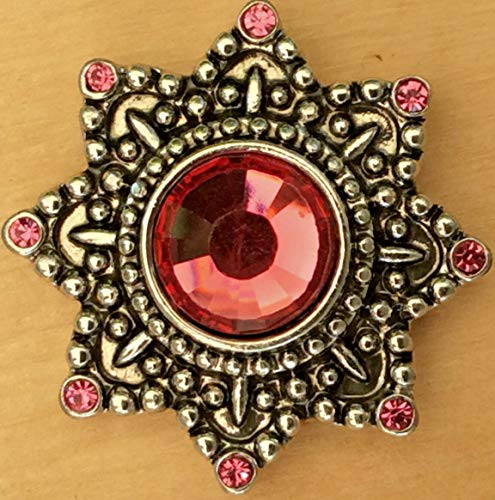Snap Chunk Button 20mm Star Rose Sets Charm for Ginger Snap Style Jewelry SE-2702