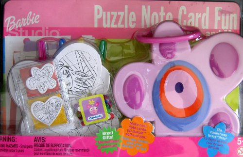 Barbie Studio PUZZLE NOTE CARD Fun PLAYSET (2000 Tara/Mattel From Canada)