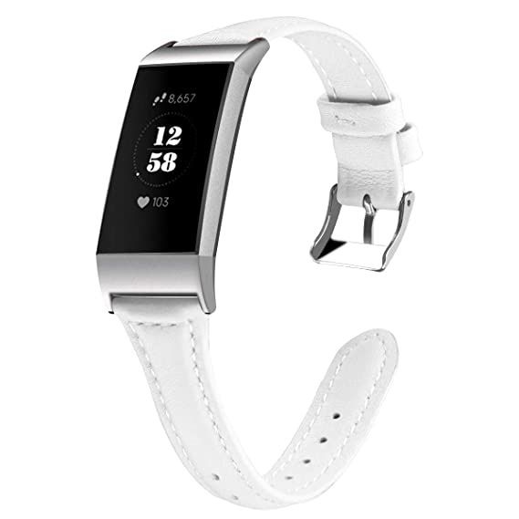 Amazon com: for Fitbit Charge 3 White Smartwatch Strap Adapter