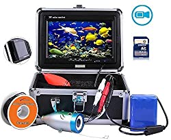 "Anysun Underwater Fish Finder With Video Recorder Dvr Function Professional Fishing Video Camera 7"" Tft Color Lcd Hd Monitor 1000tvl Ccd 30m Cable Length. Easily Watch The Fish Bite"