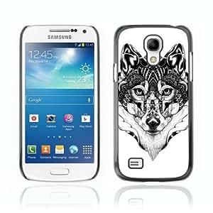 Designer Depo Hard Protection Case for Samsung Galaxy S4 Mini / Beautiful Pattern Wolf Art