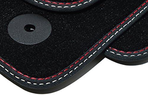Styling 4youcar Fußmatten Für Orlando Höchste Qualität Velours Doppelnaht Rot Silber Automatten Auto