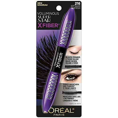 L'Oréal Paris Makeup Voluminous X Fiber Mascara with Black Primer