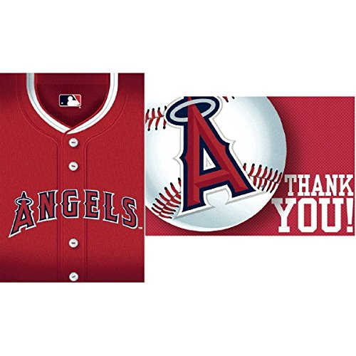 Los Angeles Angels Major League Baseball Collection Party Invitation /& Thank You Card Set