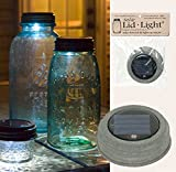 Solar Lid-light Gift Set with Scented Tea Light, Weathered Galvanized Finish (Lid Only)