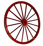 Vintiquewise(TM) Decorative Antique Red Wagon Garden Wheel, 42-Inch