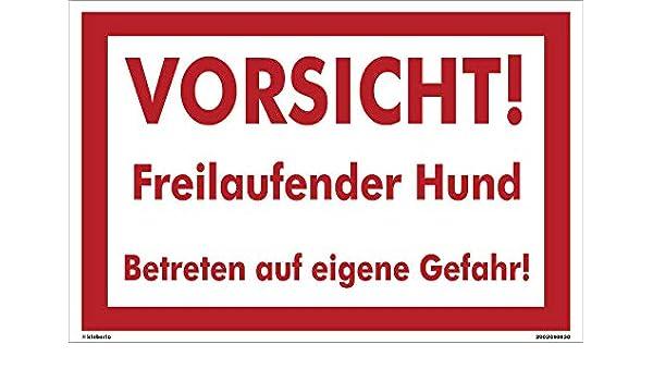 kleberio® autoadhesivo PVC Pegatinas warnschild perro 60 x ...