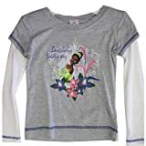 Disney Little Girls Grey White Princess and the Frog Long Sleeve T-Shirt 4-5