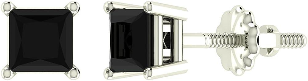 Black Diamond Stud Earrings...