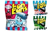 Eiffel Bon Bons 1.25oz 9 Bag Variety Pack - Strawberry, Blue Raspberry, & Apple