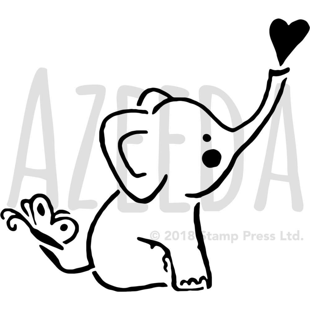 Gro/ß A2 Baby Elefant Wandschablone WS00032213 Vorlage