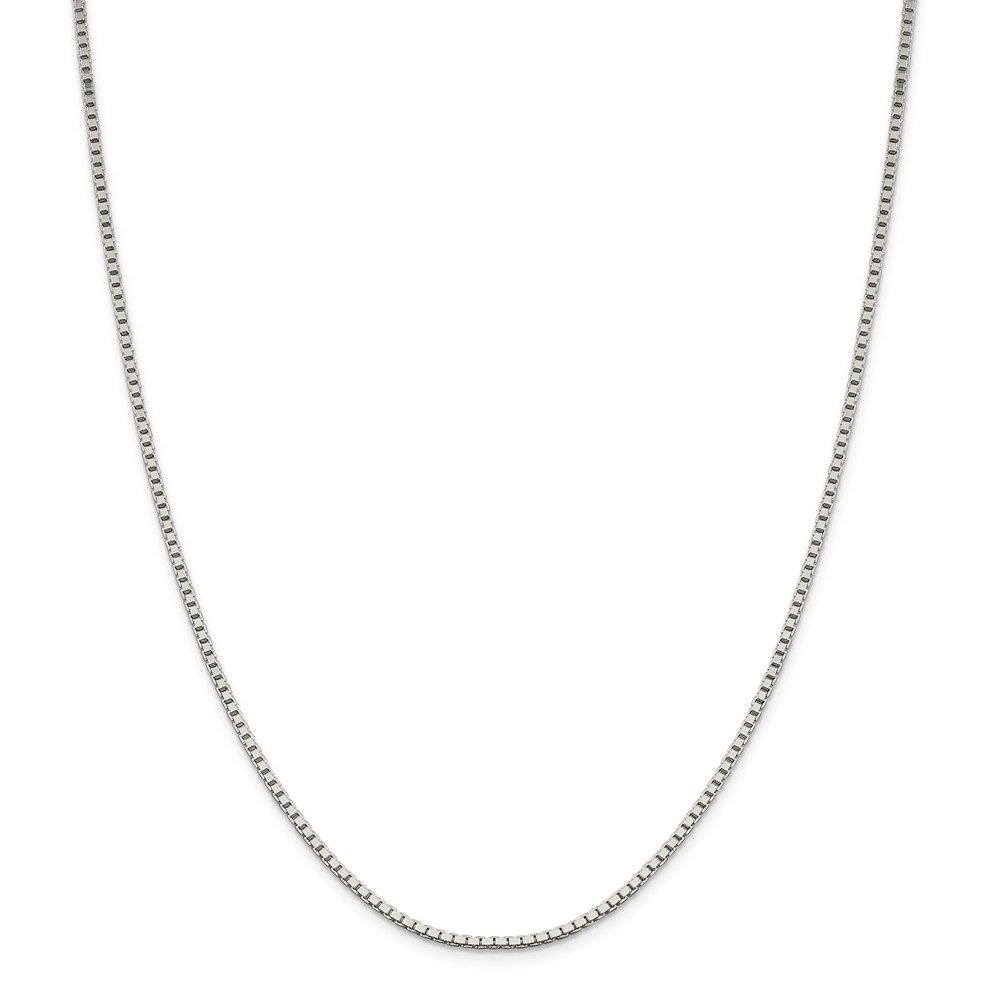 Solid 925 Sterling Silver 1.9mm Box Chain Necklace