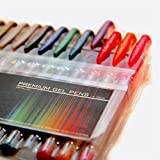 Office Products : Color Technik Metallic Gel Pens with Comfort Grip, Assorted Colors, Set of 12