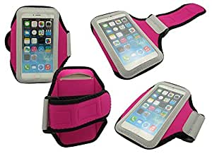 IPHONE 6 ARMBAND, Mobile King USA iPhone 6 Armband - Sports Armband for iPhone 6 (4.7) inch Screen Water Resistant + Sweat Proof (HOT PINK)