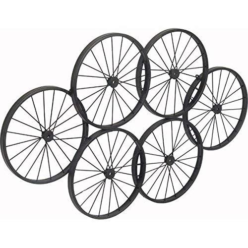 Brayden Studio Handmade Ornamental Iron Wheels Black Wall Decor