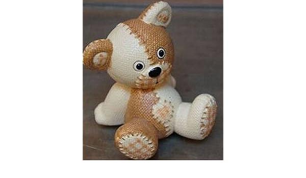 Diseño de oso de peluche tela efecto molde de silicona para repostería, chocolate, jabón y vela: Amazon.es: Hogar