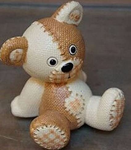 Diseño de oso de peluche tela efecto molde de silicona para repostería, chocolate, jabón