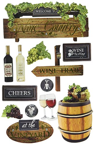 - Paper House Productions STDM-0250E 3D Cardstock Stickers, Wine Country (3-Pack)