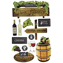 Paper House Productions STDM-0250E 3D Cardstock Stickers, Wine Country (3-Pack)
