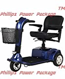 Golden Technologies - Companion - Full-Sized Scooter - 3-Wheel - Blue - PHILLIPS POWER PACKAGE TM - TO $500 VALUE