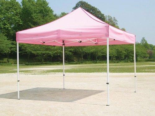 JOYFUL SHELTER Mr Quick クイックテント(メッシュテント) T-37M 【支柱:スチール/桁:アルミ 白粉体塗装】 間口7.2m×奥行3.6m B00C7GLGE4 ピンク ピンク