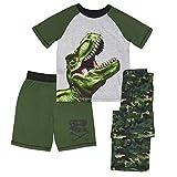 Komar Kids Boys' Big 3 Piece Jersey Pajama Set, Dino, Extra Large