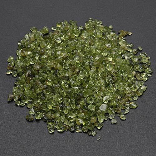 DOPTHOI - 100g Natural Peridot Quartz Crystal Stone Health Olivine Healing Aquatic FishTank Landscape Decoration DIY Home Decor