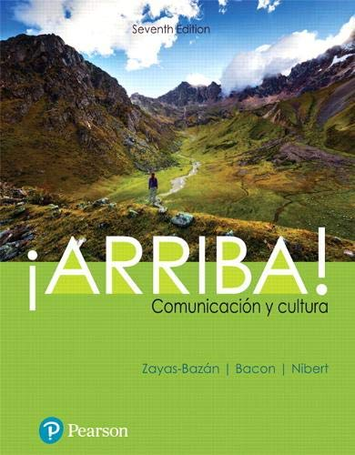 Arriba: comunicacin y cultura (7th Edition) (Whats New in Languages)