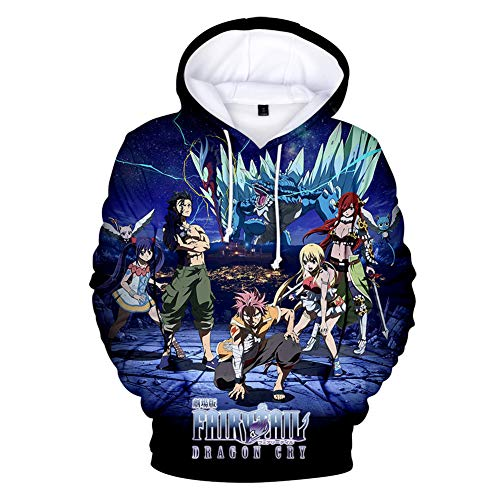 Gurbanton Fairy Tail Pullover Hoodie Costume Men 3D Printed Sweatshirt for Halloween Holiday Party (Men Color A, US L/Label XXL) (Xxl Hoodie Tail Fairy)