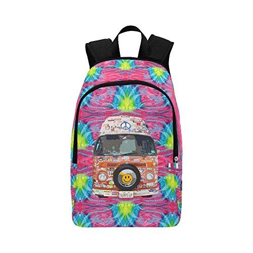 InterestPrint Groovy Hippie Van Casual Shoulders Backpack Travel Bag School Backpacks ()