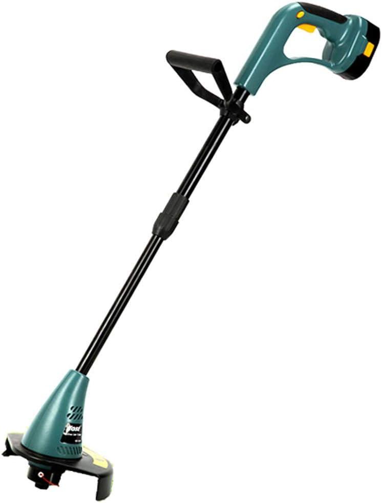 12v電気の小さい芝刈機の世帯の芝刈り機の除草機、中庭の庭のための必須の刈る用具,グリーン