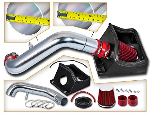 Cold Air Intake System with Heat Shield Kit + Filter Combo RED for 11-14 Ford F150 5.0L V8