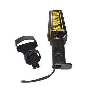 Funnyrunstore Detector de Metales portátil de Alta sensibilidad Portable Super escáner Profesional Inspector de Seguridad Iron