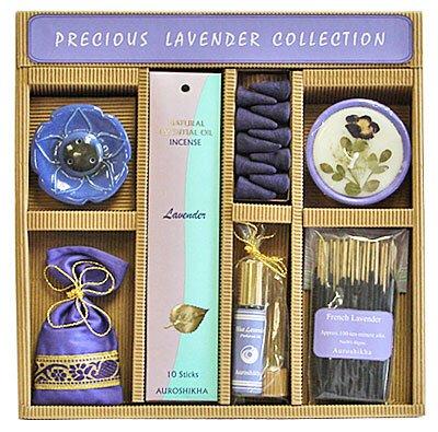 Precious Lavender Gift Set From Auroshikha Auroshikha Incense Gift Set