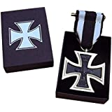 Replica Iron Cross WW1 Medal - 1914 German Repro + Embossed Gift Box & Ribbon by Masonic Mint