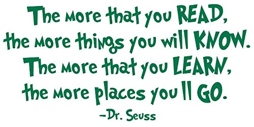 [Dr Seuss Lorax Decals – Inspirational Quotes Wall Decals For Your Dr Seuss Collection – Premium, Thick Flexible USA GREEN VinyL, Easy To Install & Removable, Great In Boys, Girls & Family] (Abc Costume Ideas For Girls)