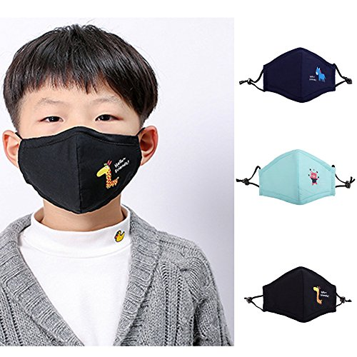 3pcs For Cotton Dustproof Animal Oemby001 With Pm2 Face Mouth Kids Guaze Masks Cute 5 Mask Children's Respirator Filters Outdoor N95