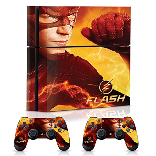 Controller Gear The Flash Electric Yellow - PS4 Combo Skin Set for Console and Controller