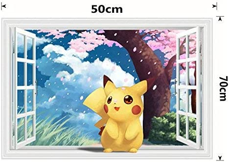 New Pokemon Cartoon Pikachu Cartoon Stickers Decals Car Decorative Sticker