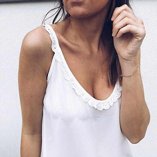Weant T Magliette Donne Moderno Moda Manica Elegante Bianco Tank Vestiti Top Canottiere Bianco Felpa Donna Shirt Abbigliamento Felpe Sexy Canotta Rosso Vest Canotta Pizzo Casual Estivi Nero t4Atr