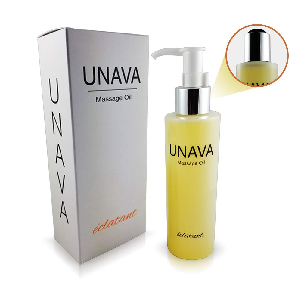 UNAVA eclatant Massage Oil for Couples - Creamsicle Swirl Orange Vanilla Scented Body Oil - Melts on Your Skin, Not in Your Hands Moisturizer - 6.3 fl oz