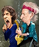 Rolling Stones Huge 37 x 29 Artwork On Canvas By World Famous Rich Conley Licensed Artist of I Love Lucy Three Stooges Etc