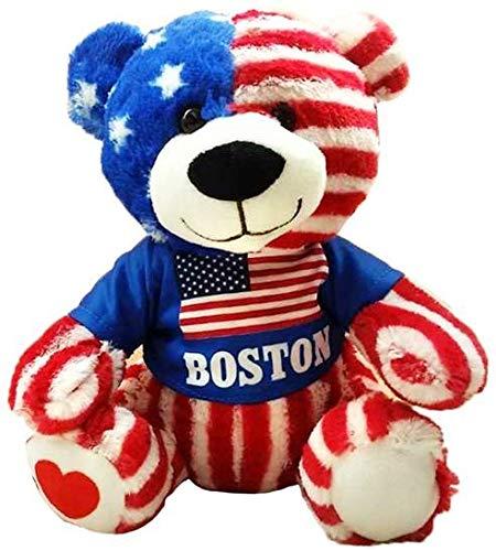 CityDreamShop Boston USA 8 inch Soft Plush Bear ()
