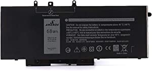 Amanda GJKNX Laptop Battery 7.6V 68Wh Replacement for Dell Latitude 5480 5580 5280 5590 5490 E5480 E5580 E5490 E5590 Precision 15 3520 3530 Series GD1JP 0GD1JP DY9NT 0DY9NT 5YHR4 451-BBZG 4cell